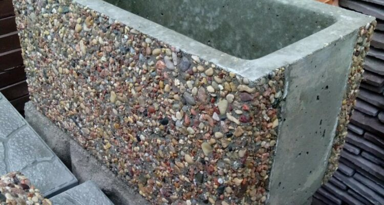 блоки мытый бетон