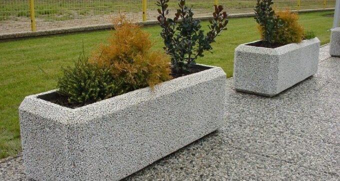 плитка из мытого бетона