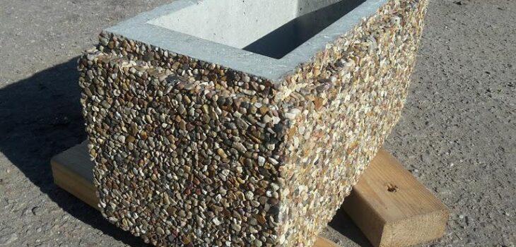 заборные блоки мытый бетон