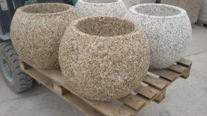 купить вазоны из мытого бетона