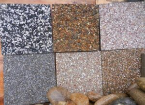 разновидности плиток мытого бетона